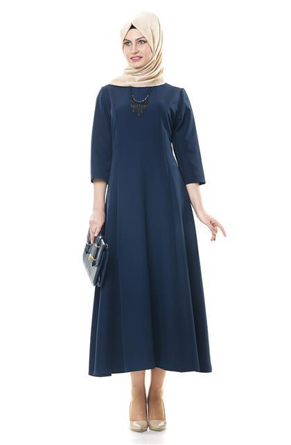 Doubleface Dress-Navy Blue 1102-17