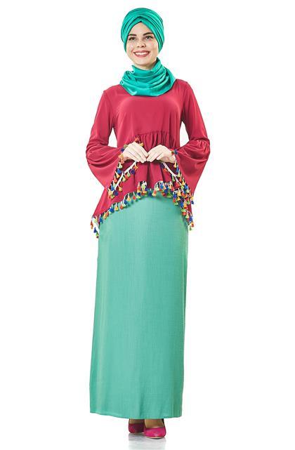 Skirt-Green H7236-22