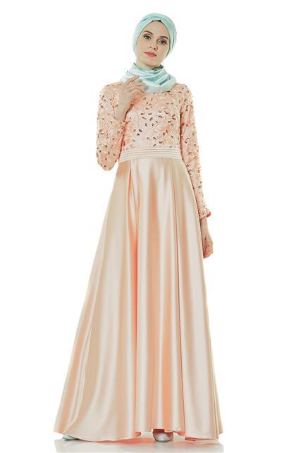 Evening Dress Dress-Salmon 2145-73
