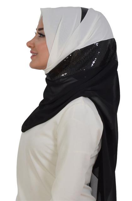 شال-أبيض أسود As-0027