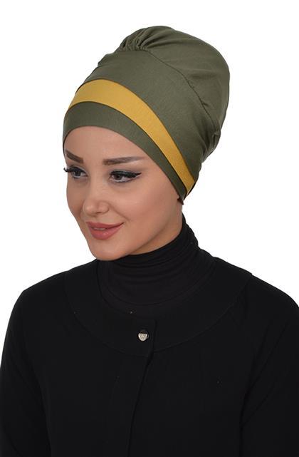 Ayşe TaYellowm Bone-Khaki Green Mustard B-0002-13-11