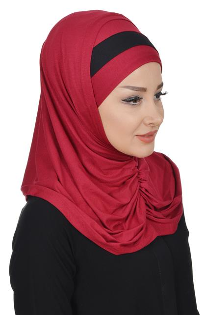 Ayşe TaYellowm Bone Set-Claret Red Black B-0008-3-6
