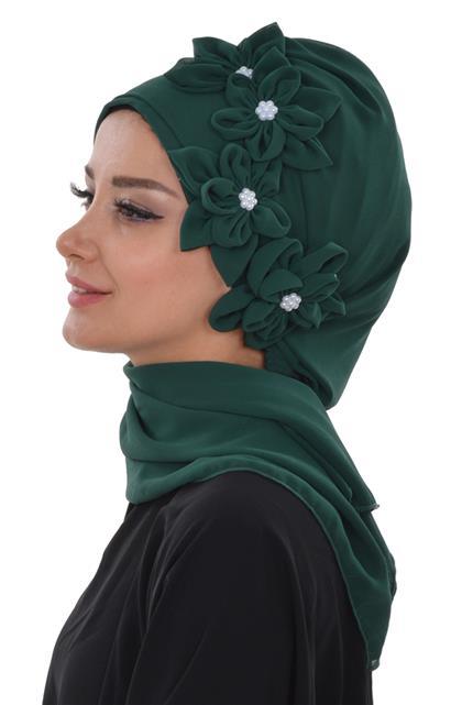 Ayşe TaYellowm Scarf-Emerald Greeni Ht-0027-12
