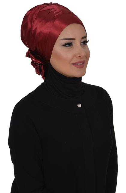 Ayşe TaYellowm Scarf-Claret Red Ht-0032-14