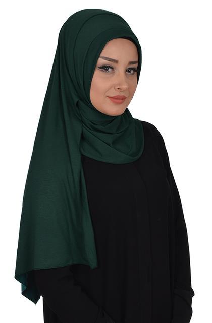Ayşe TaYellowm Shawl-Koyu Green Ps-0016-14