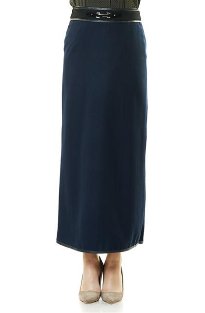 Skirt-Navy Blue KA-A7-12081-11