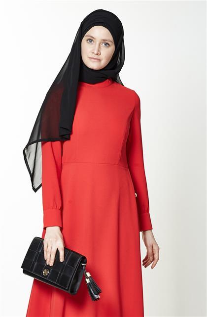Elbise-Kırmızı KA-A7-23108-19