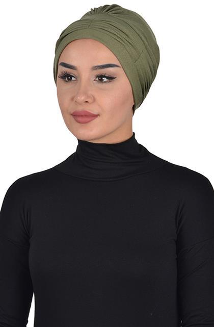 Bonnet-Khaki Green B-0019-13