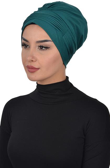 Bonnet-Dark Green B-0019-14