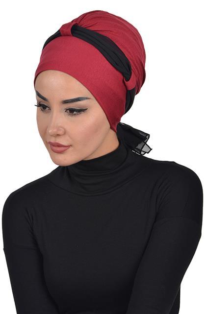Bonnet-Claret Red-Black B-0024-3-14