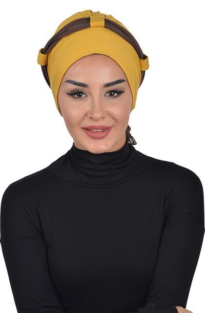 Bonnet-Mustard-Brown B-0024-11-6
