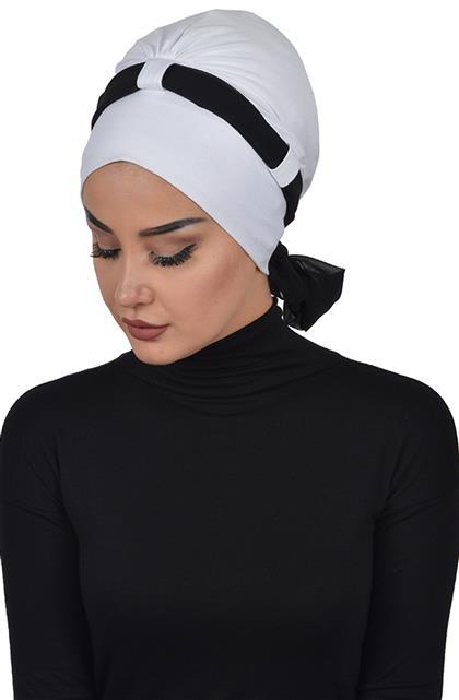 Bonnet-White-Black B-0024-12-14