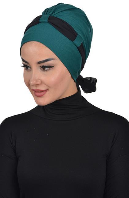 Bonnet-Dark Green-Black B-0024-14-14
