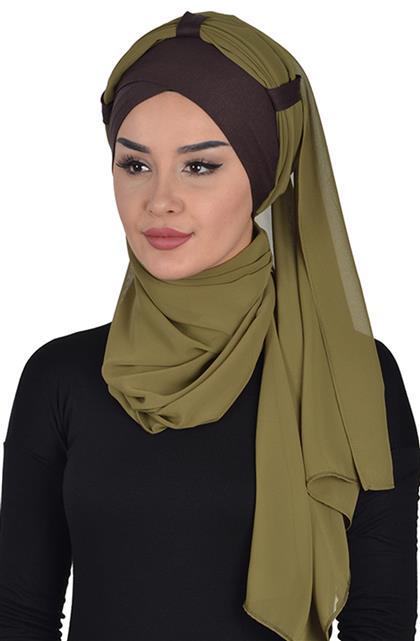 Shawl-Brown-Yağ Greeni Bs-0001-5-17
