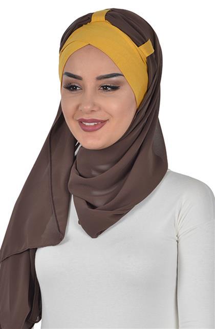 Shawl-Mustard-Brown Bs-0001-11-6