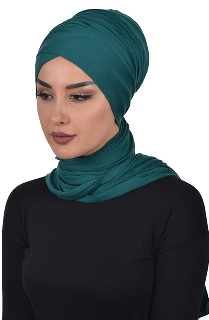 Bonnet Shawl-Dark Green Bt-0003-14