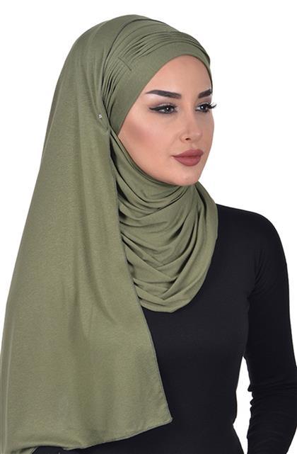 Shawl-Khaki Green Cps-0047-13