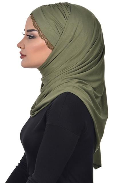 Shawl-Khaki Green Cps-0048-13