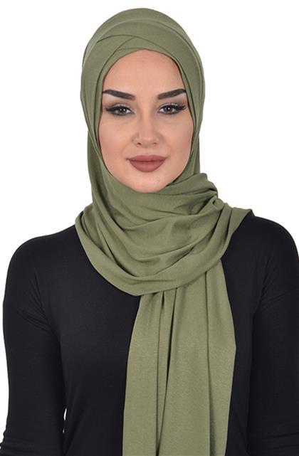 Shawl-Khaki Green Ps-0040-13