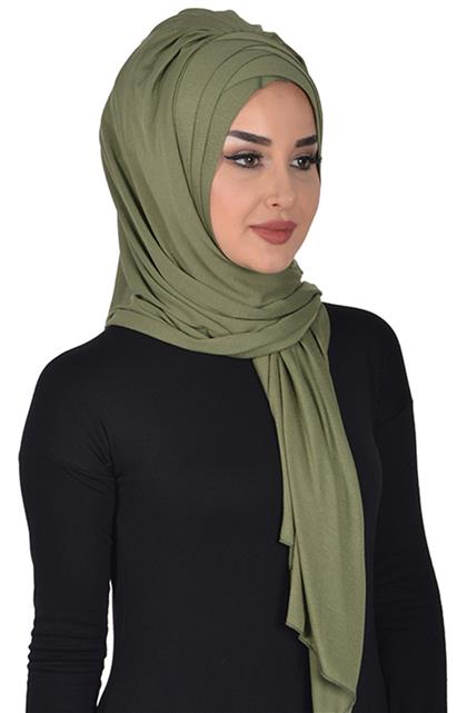 Shawl-Khaki Green Ps-0041-13