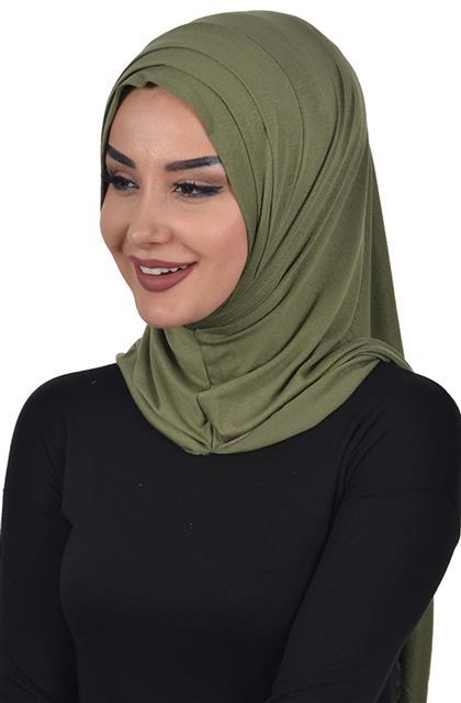 Shawl-Khaki Green Ps-0042-13