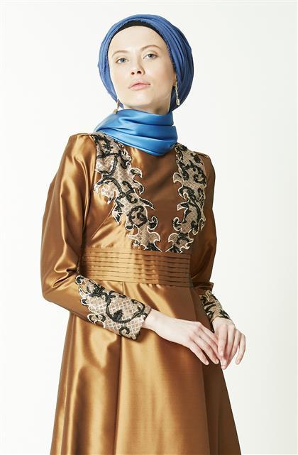 Evening Dress-Gold KA-B7-23049-63