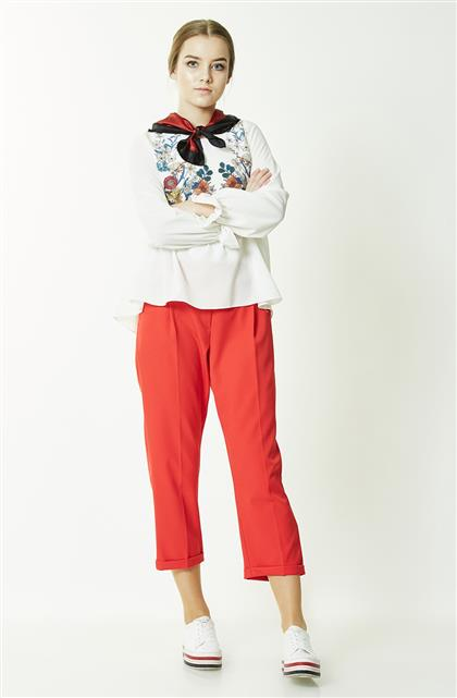 Pants-Red MS855-34
