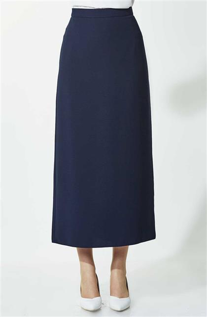Skirt-Navy Blue 754-17