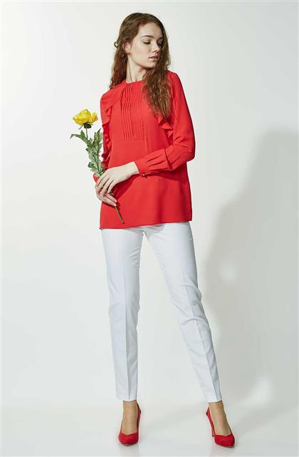 Soral Slim Pants-White 1673-02
