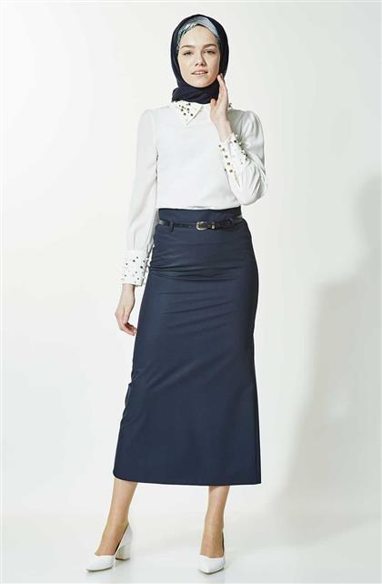 Skirt-Navy Blue 770-17