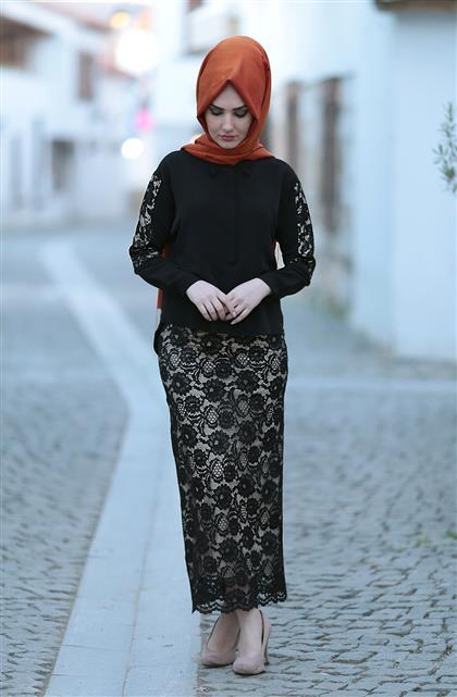 Gonca Skirt Black