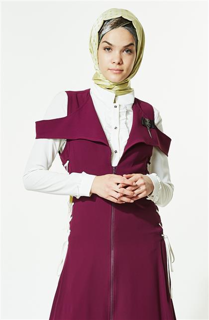Vest Suit-Plum J2133-10