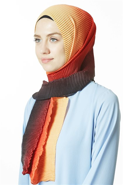 Shawl-10 Red-Orange