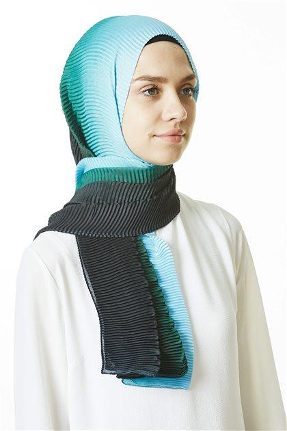 Shawl-03 Green-Turquoise