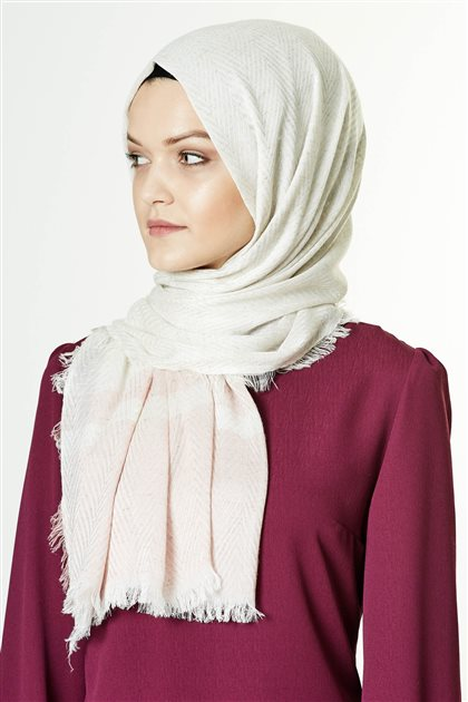 Armine Viscon Shawl 7991 Ecru-Powder