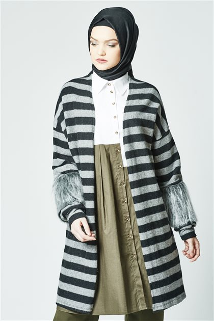 Cardigan-Gray HRK 8513-04