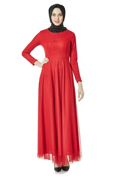 Evening Dress-Red ELB 3456-34