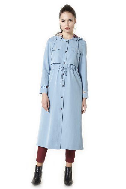Short Topcoat-Light Blue J2202-16