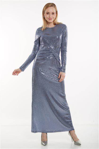 Elbise-Mavi 12035-70