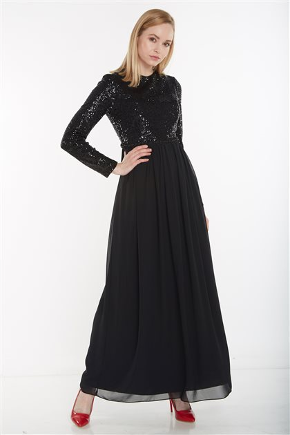 Elbise-Siyah 12041-01