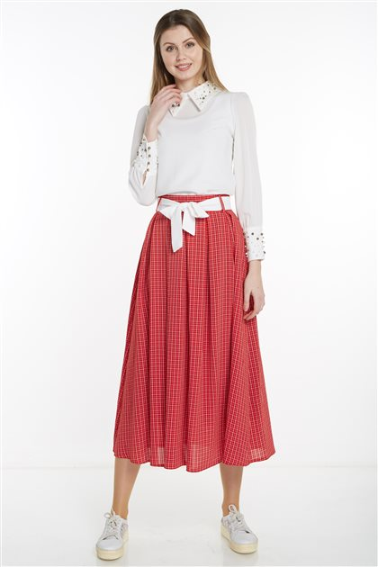 Skirt-Red MS128-34
