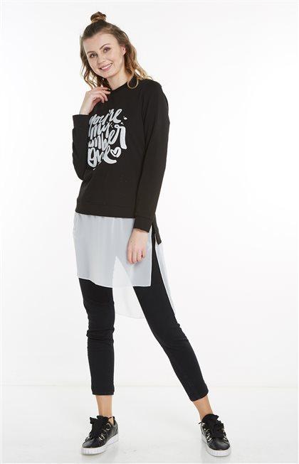 Sweatshirt-Siyah 19Y-MM21.0144-01