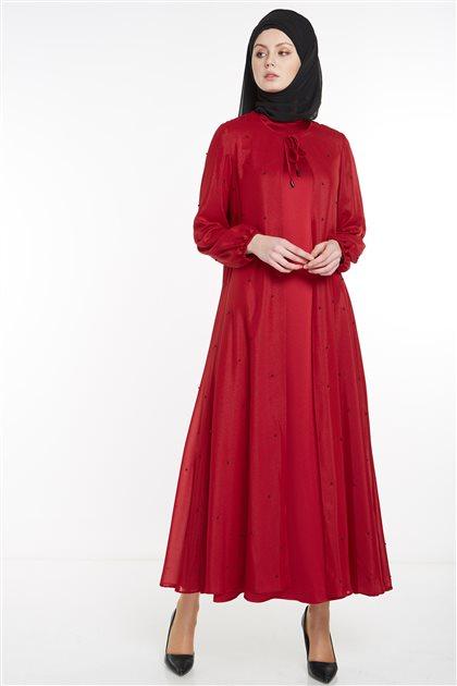 فستان-بوردو TK-M7186-30