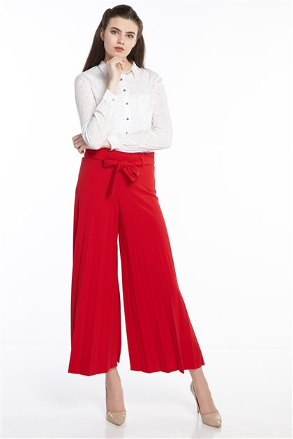 Pants-Red MS118-34