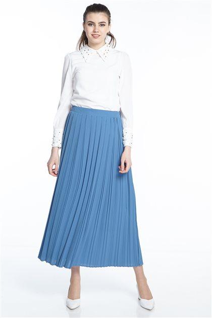 Skirt-indigo MS131-39