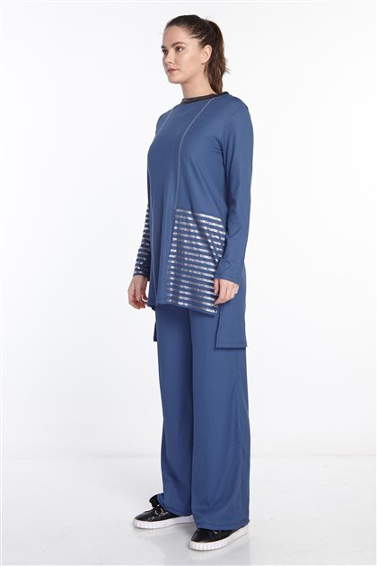 Double Sweat Suits-Blue N-104-70
