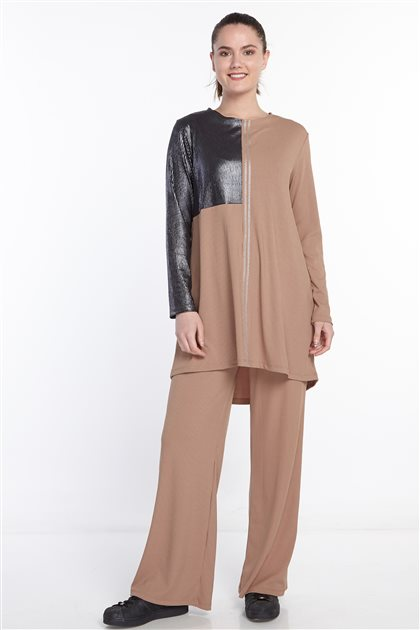 Double Sweat Suits-Brown N-105-68