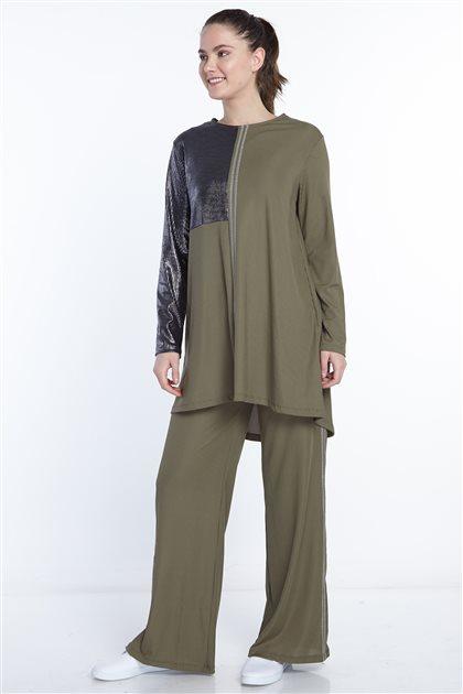 Double Sweat Suits-Khaki N-105-27