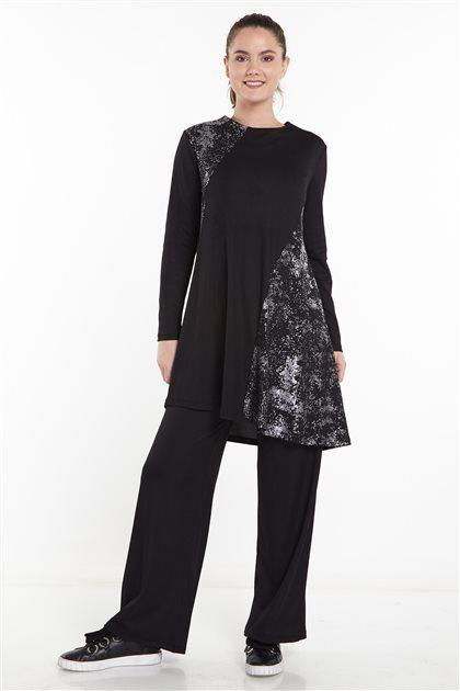 Double Sweat Suits-Black N-124-01