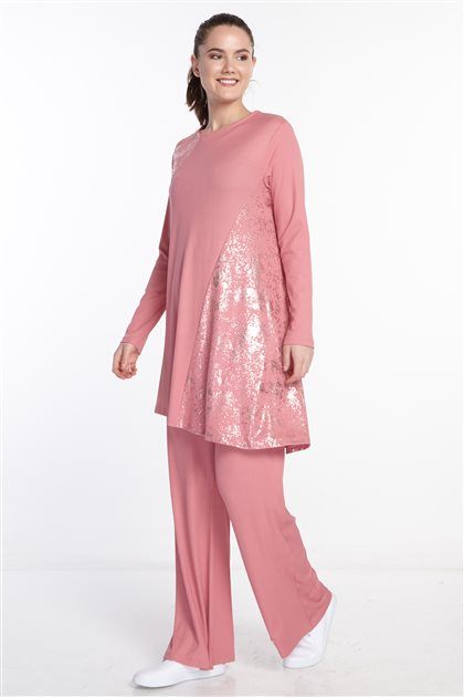 Double Sweat Suits-Pink N-124-42